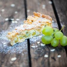 Szőlős-marcipános pite