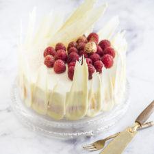 Fehércsokoládés málnás torta